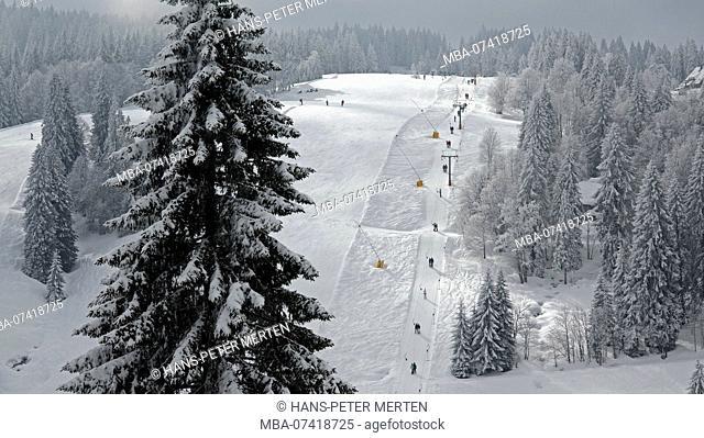 Ski resort at Feldberg, Hochschwarzwald, Baden-Wurttemberg, Germany