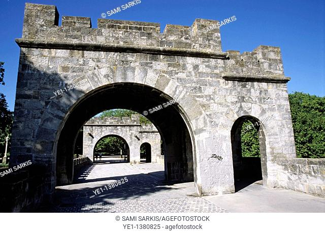 Main gate of the ramparts, Pamplona, Spain