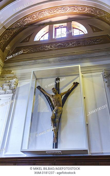 The Crucified of Piran. St. George's Parish Church. Piran. Slovene Istria region. Slovenia, Europe