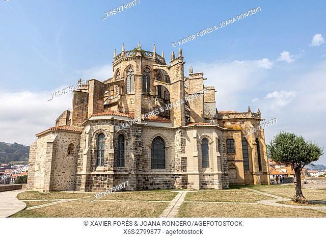 Church of Santa Maria de la Asuncion, Castro Urdiales village in Cantabria, Spain