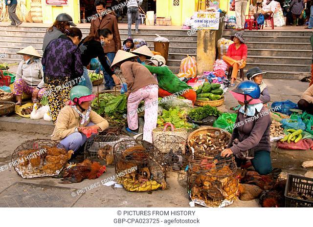 Vietnam: A busy market scene in Hoi An