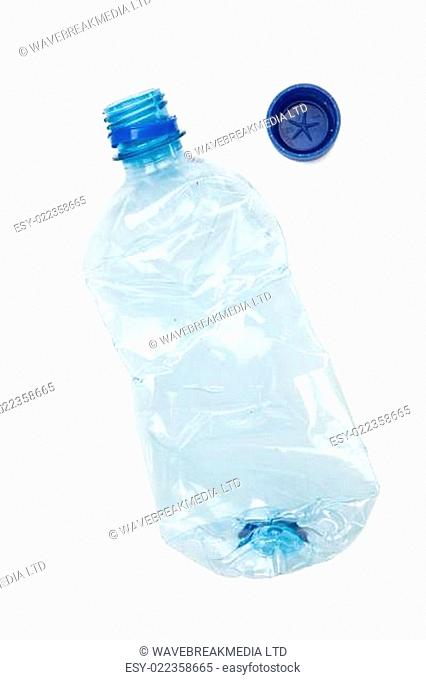 recyclable plastic bottle on white background