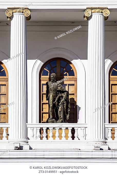 Sucre National Theater, detailed view, Old Town, Quito, Pichincha Province, Ecuador