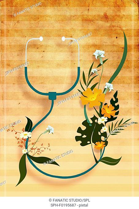 Natural medicine, illustration