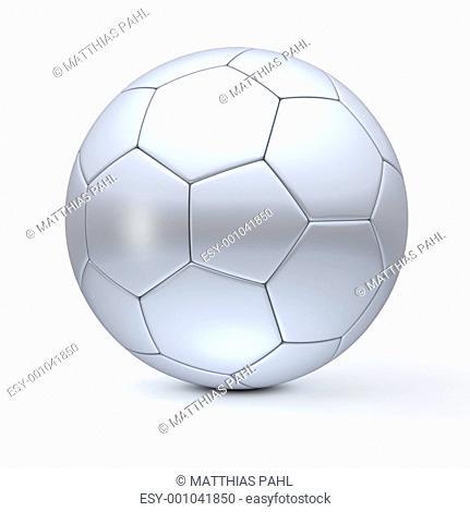 Classic Football in Silver Metallic