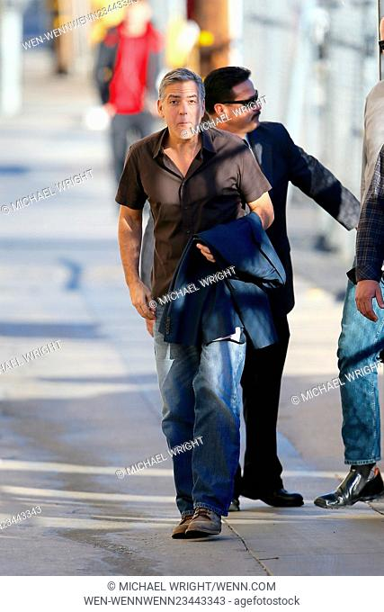 George Clooney seen arriving at the ABC studios for Jimmy Kimmel Live Featuring: George Clooney Where: Los Angeles, California