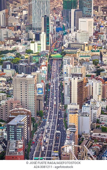 Japan, Tokyo City, Roppongi avenue, 246 road, Shibuya area