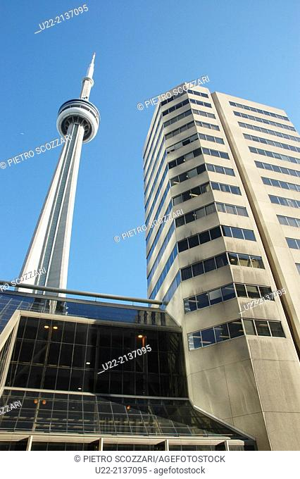 Toronto Canada: the InterContinental Toronto Centre Hotel and the CN Tower