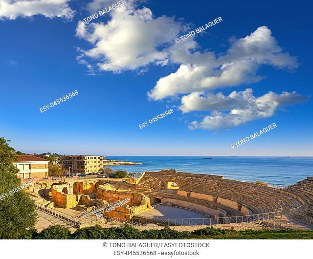 Amphitheater roman in Tarragona of Catalonia Amfiteatre