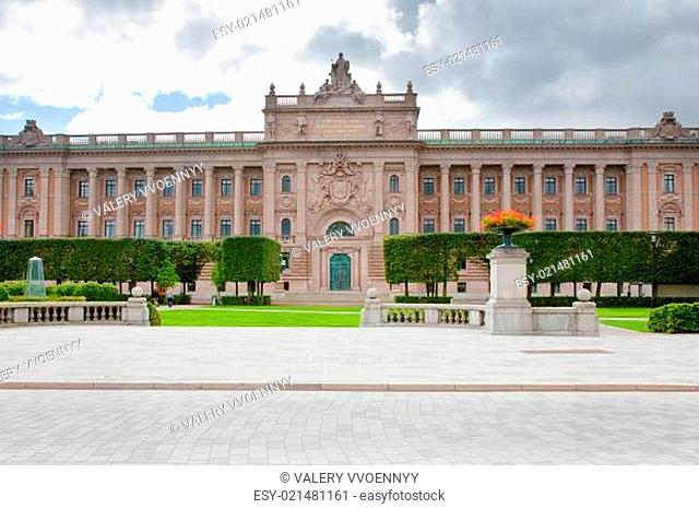 Riksdag building - swedish parliament, Stockholm, Sweden