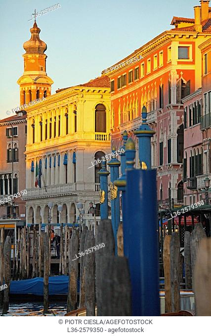 Venice. Sunset on the Canale Grande