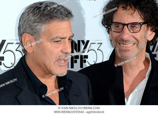 "53rd New York Film Festival Presents a 15th Anniversary Screening of """"O Brother, Where Art Thou?"""" - Red Carpet Arrivals Featuring: George Clooney"
