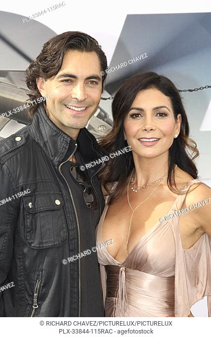 "Patricia Manterola and guest at the Universal Pictures World Premiere of """"Fast & Furious Presents: Hobbs & Shaw"""". Held at the Dolby Theater in Hollywood, CA"
