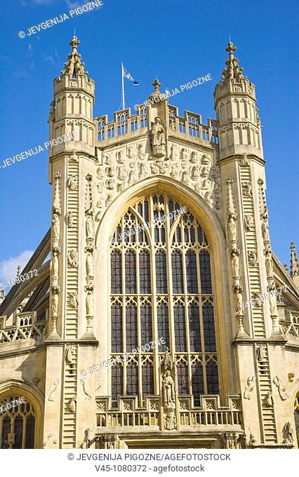 The Abbey Church of Saint Peter and Saint Paul. Bath Abbey. Bath. Somerset. England. UK