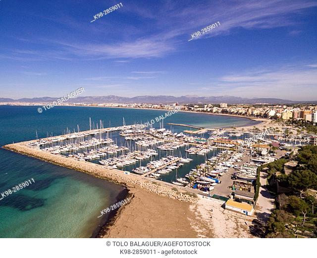 Club Nautico Arenal, Municipality of Llucmajor, Mallorca, balearic islands, spain, europe