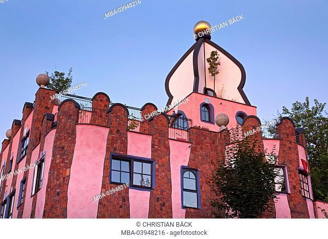 Green bastille of Friedensreich Hundertwasser, Magdeburg, Saxony-Anhalt, Germany