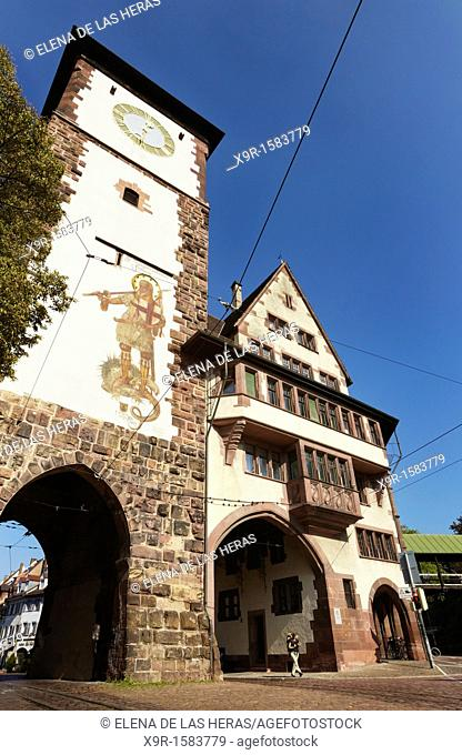 Schwabentor gate  Freiburg im Breisgau  Baden Wuerttemberg  Germany