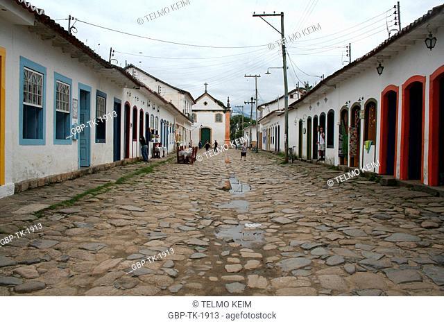 street, Paraty, Rio de Janeiro, Brazil