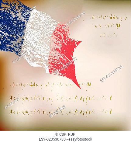 France grunge flag background