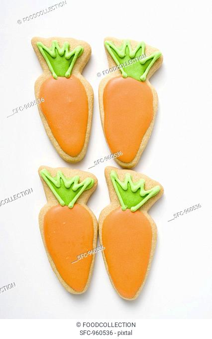 Four Easter biscuits carrots