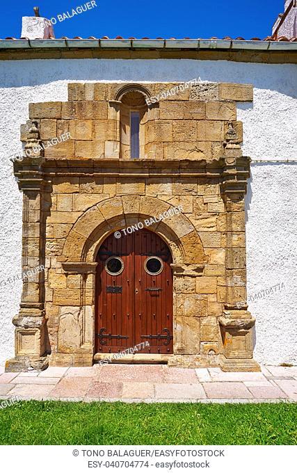 Ribadesella Ermita la Guia hermitage in Asturias of Spain
