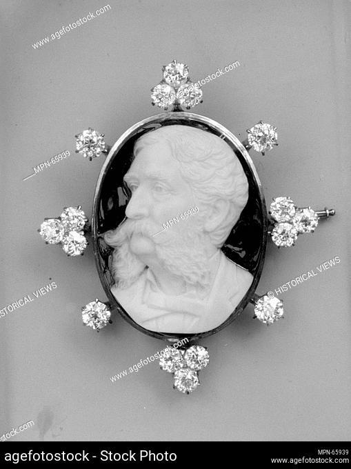 Cameo. Date: ca. 1860; Medium: Onyx, gold, diamonds; Dimensions: 2 1/4 x 1 7/8 in. (5.7 x 4.8 cm); Classification: Jewelry