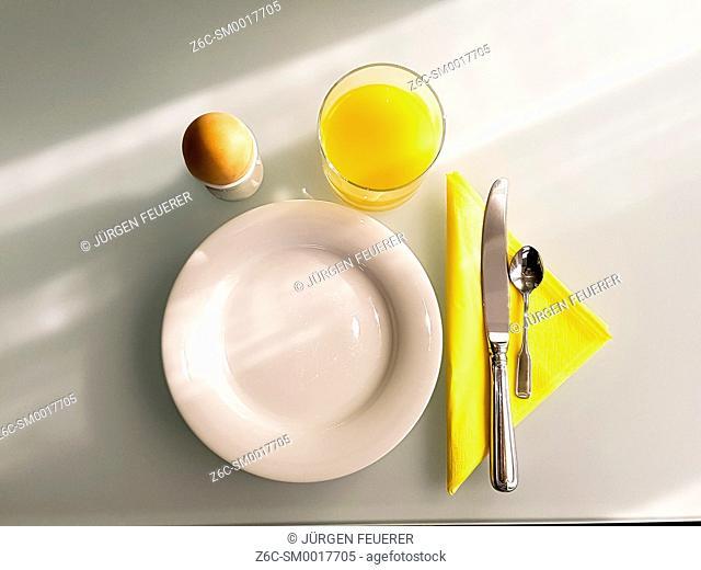 asset for breakfast, sunny morning light