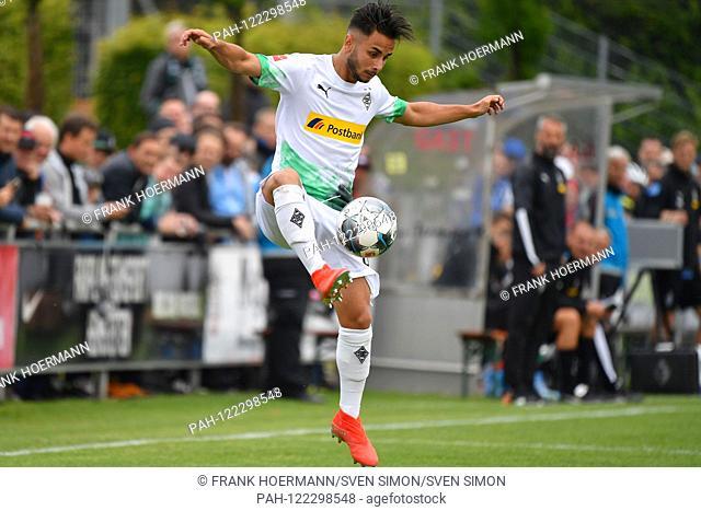 Kaan KURT (Borussia Monchengladbach), Action, Single Action, Frame, Cut Out, Full Body, Whole Figure. TSVMunich 1860-Borussia Monchengladbach 0-1