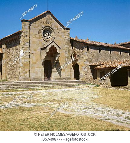 Church of San Francesco (1330). Fiesole. Tuscany. Italy