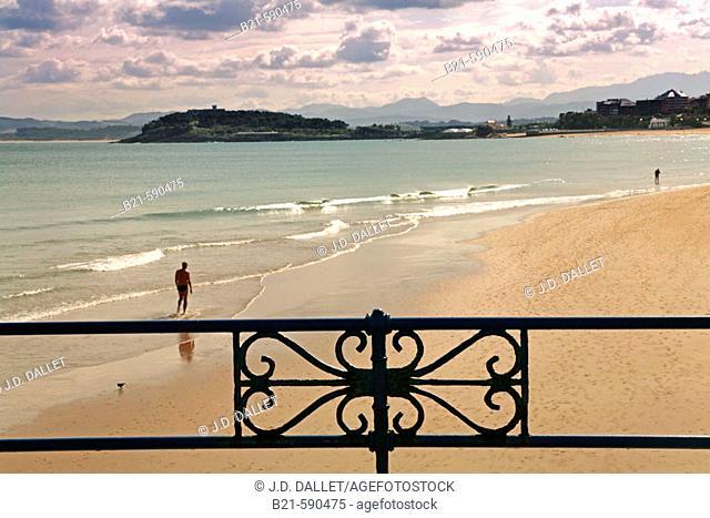 Sardinero beach at Santander. Cantabria. Spain