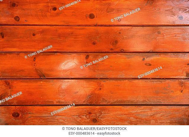 Golden orange wooden wall texture background