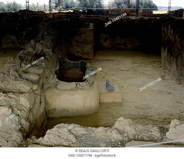 Palace of Nestor in Pylos, Greece. Mycenaean civilization, 16th-13th Century BC