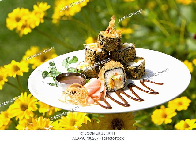 The Maki roll is one of the popular appetizers served up at the Kingfisher Resort and Spa, located in the Comox Valley. The Comox Valley, Vancouver Island