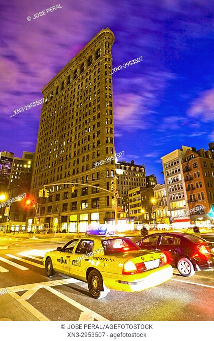 Flatiron Building, Brodway and Fifth Avenue, Midtown, Manhattan, New York, New York City, USA