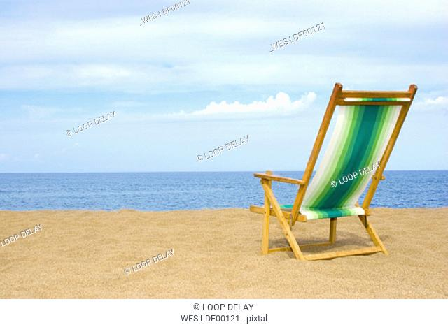 Deckchair at the beach