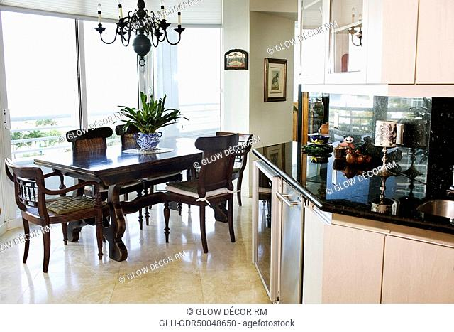 Interiors of a dining room