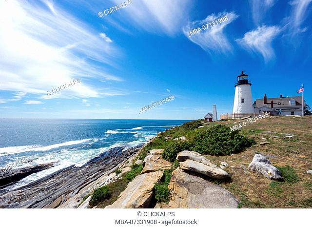 Permaquid Point Lighthouse, Bristol, Lincoln County, Maine, USA