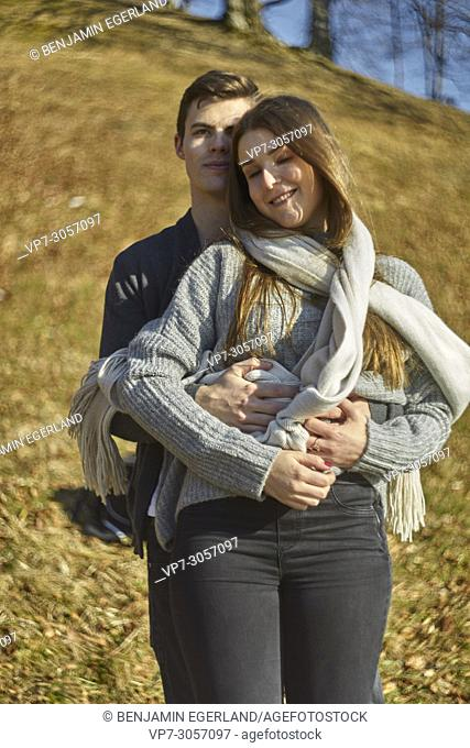 Tegernsee, Germany, couple embracing