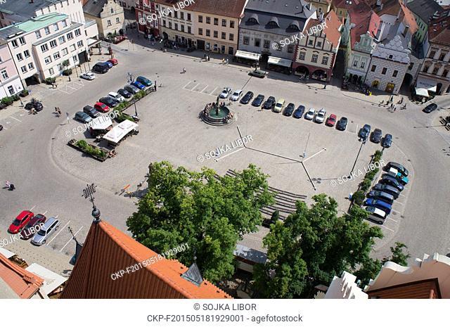 The Zizka Square in Tabor, Czech Republic, on July 20, 2013. (CTK Photo/Libor Sojka)
