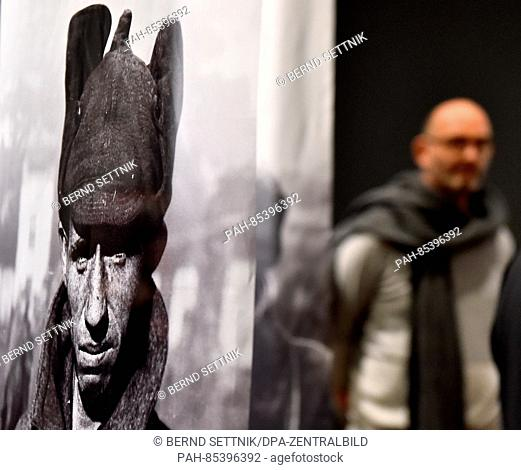 Enlarged photos can be seen at the concentration camp Sachsenhausen in Oranienburg, Germany, 4 November 2016. The special exhibition opening on Sunday remembers...