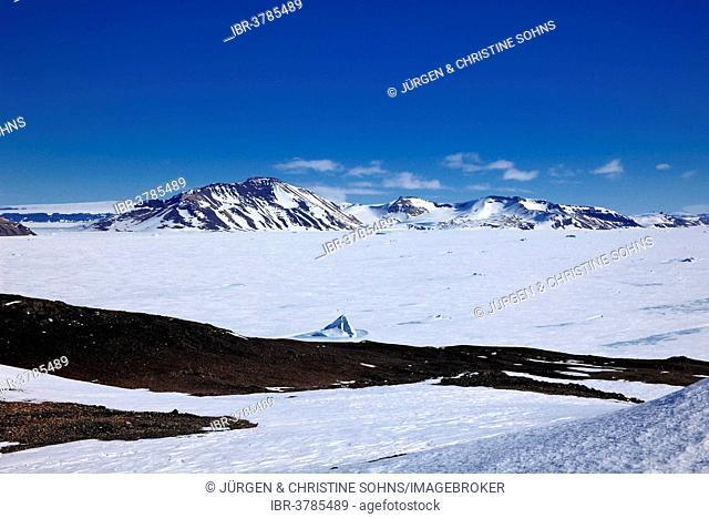 Antarctic ice landscape, View Point, Weddell Sea, Antarctica