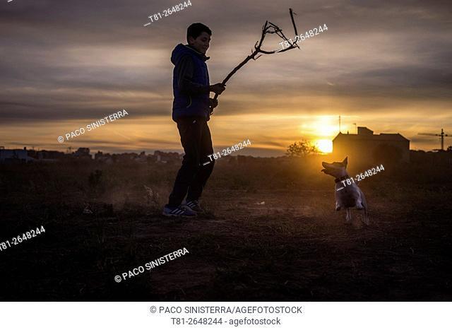Chico dog training, Navarra, Spain