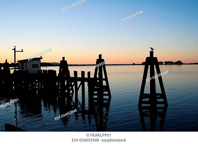 Early morning sunrise at Bodega Bay, California