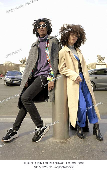 young couple, in Paris, France