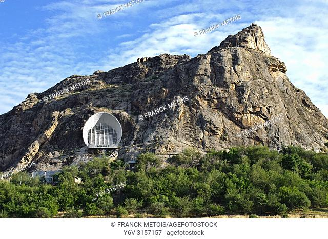 Cave museum on the side of Sulaiman too hill ( Osh, Kyrgyzstan)