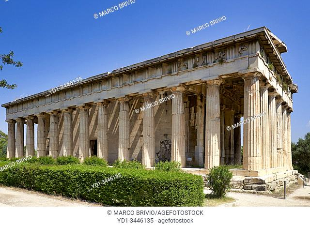 Athens Greece. The Temple of Hephaestus at the Ancient Agora