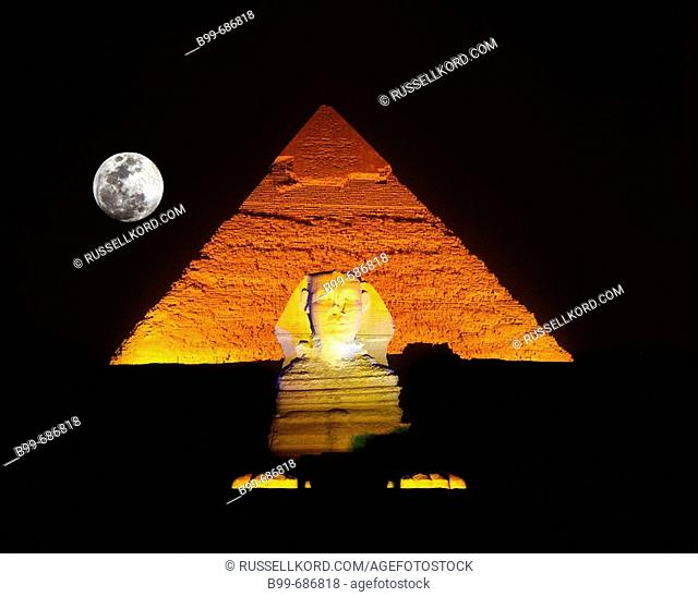 Great Pyramid And, Sphinx Ruins, Giza Egypt