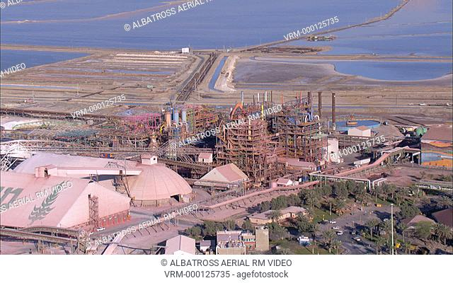Aerial footage of the Dead Sea Industries