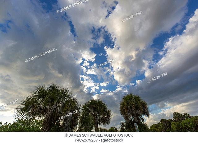 Dramatic sky and cloud formations over Venice Florida
