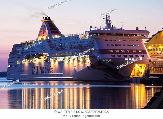 Estonia, Tallinn, Passenger Port, international ferry, sunrise